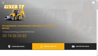 Capture d'écran du site de Giner Tp