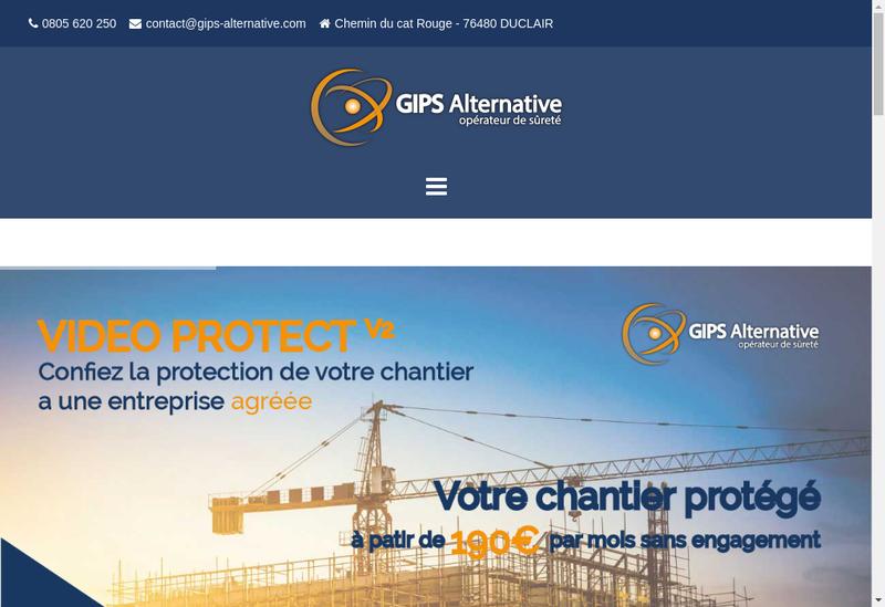 Capture d'écran du site de GIPS Alternative