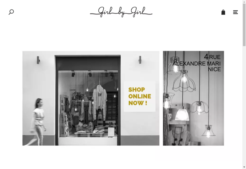 Site internet de Girl By Girl
