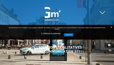 Site internet de Girod Medias