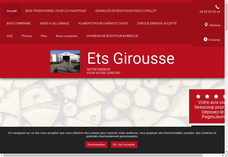 Capture d'écran du site de Girousse Transports