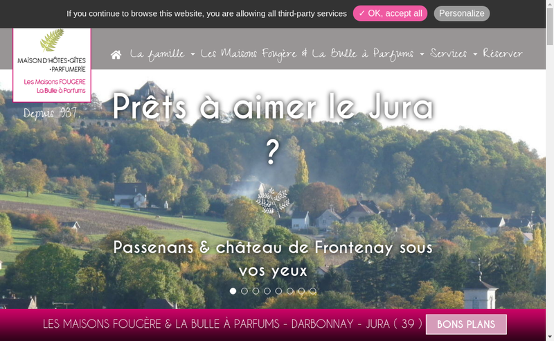 Capture d'écran du site de Gite la Maison des 4 Saisons - Chambres et Table