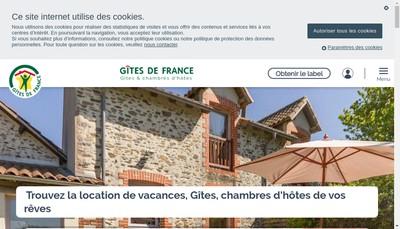 Site internet de Sas Gites de France