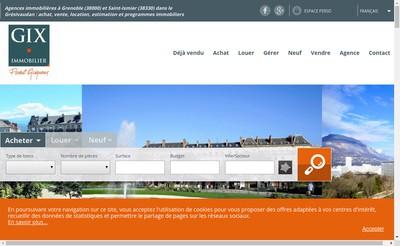 Site internet de Gix Immobilier