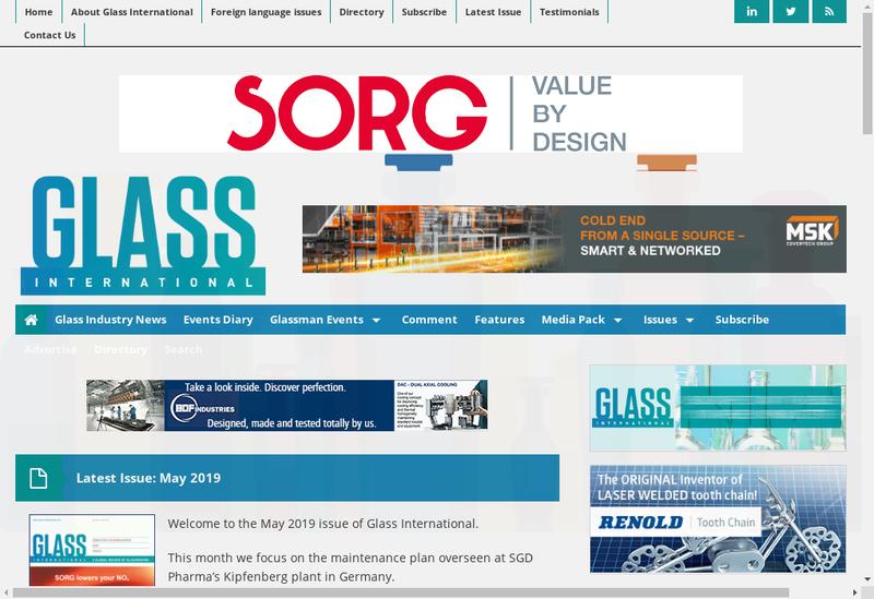 Capture d'écran du site de Team Glass International