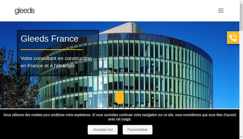 Capture d'écran du site de Gleeds France SAS
