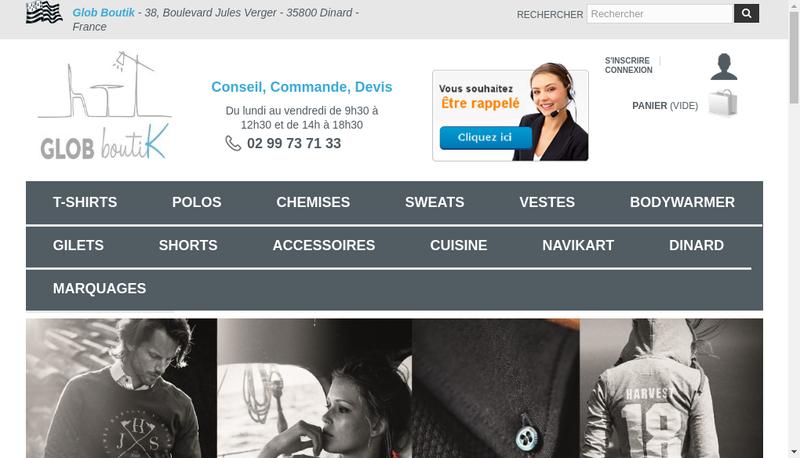 Capture d'écran du site de Glob Diffusion