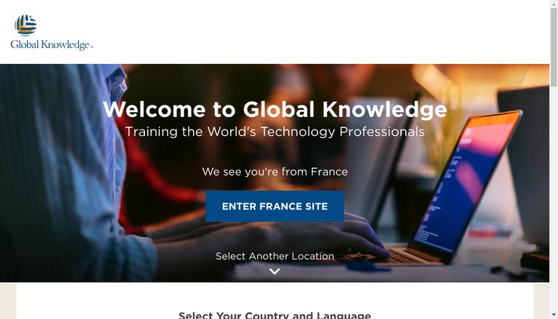 Capture d'écran du site de Global Knowledge Network France