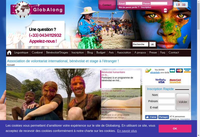 Capture d'écran du site de Globalong