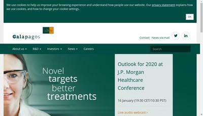 Site internet de Galapagos