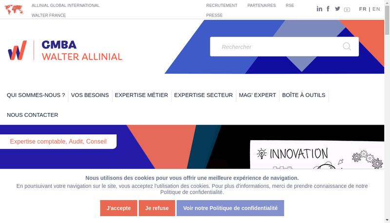 Capture d'écran du site de Gmba Essonne