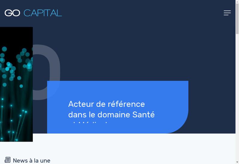 Capture d'écran du site de Ca Grand Ouest Capital Amorcage