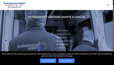 Capture d'écran du site de La Maison du Materiel Medical