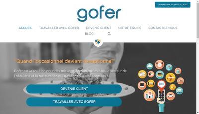 Site internet de Gofer