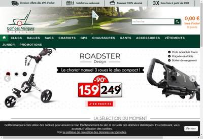 Site internet de SARL Golf des Marques