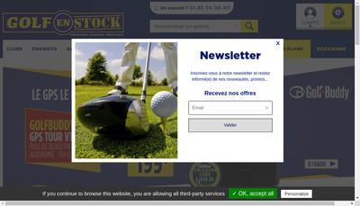 Site internet de Golf en Stock - Golf Plus Outlet