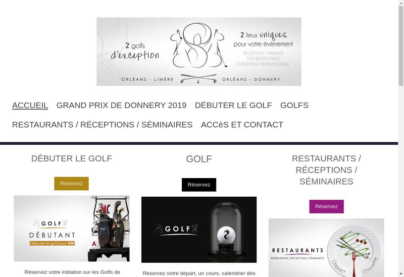 Capture d'écran du site de Golf d'Orleans Limere