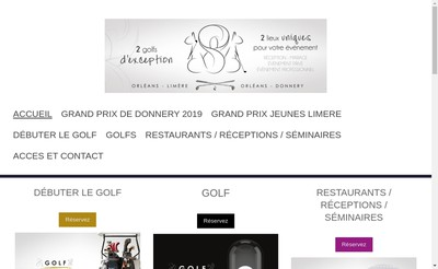 Site internet de Golf d'Orleans Limere