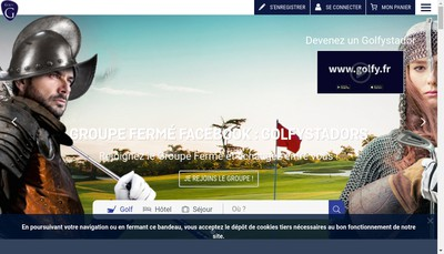 Site internet de Golfy Club Reseau SAS