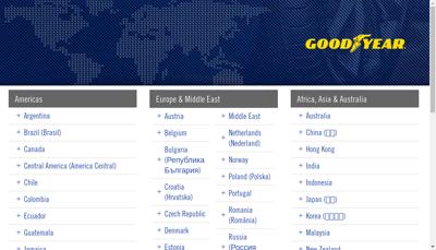 Capture d'écran du site de Goodyear Dunlop