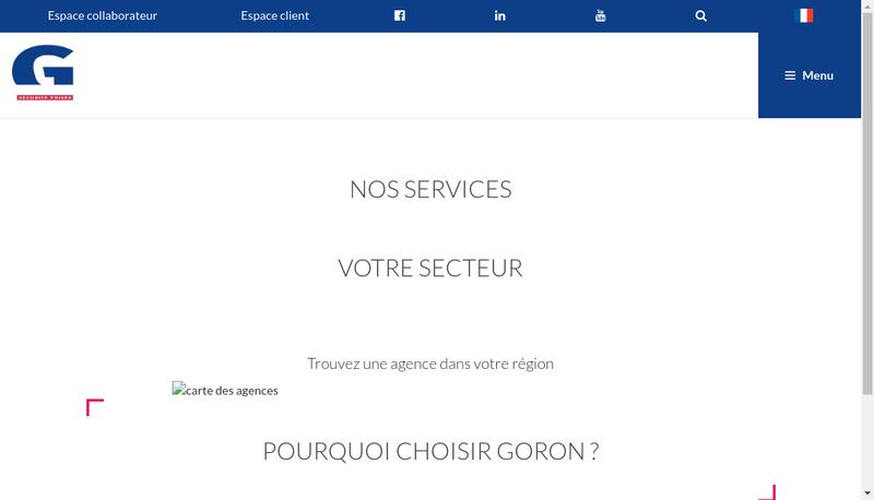 Capture d'écran du site de Goron Gsl