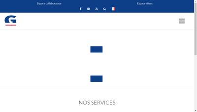 Site internet de Sofipar Goron