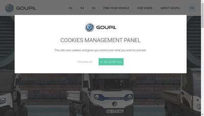 Site internet de Polaris Work & Transportation Emea