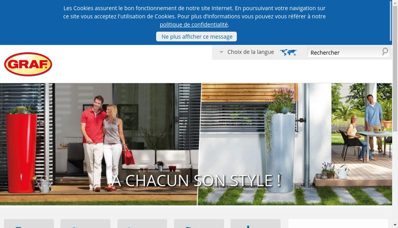 Capture d'écran du site de Graf Distribution