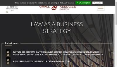 Site internet de Grall & Associes
