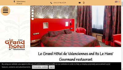 Site internet de Le Grand Hotel de Valenciennes