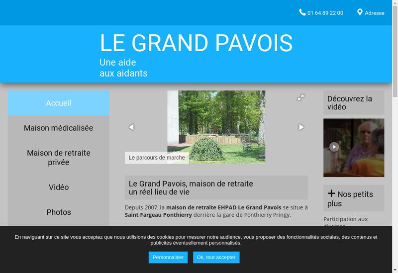Capture d'écran du site de Le Grand Pavois