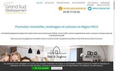 Site internet de Grand Sud Developpement