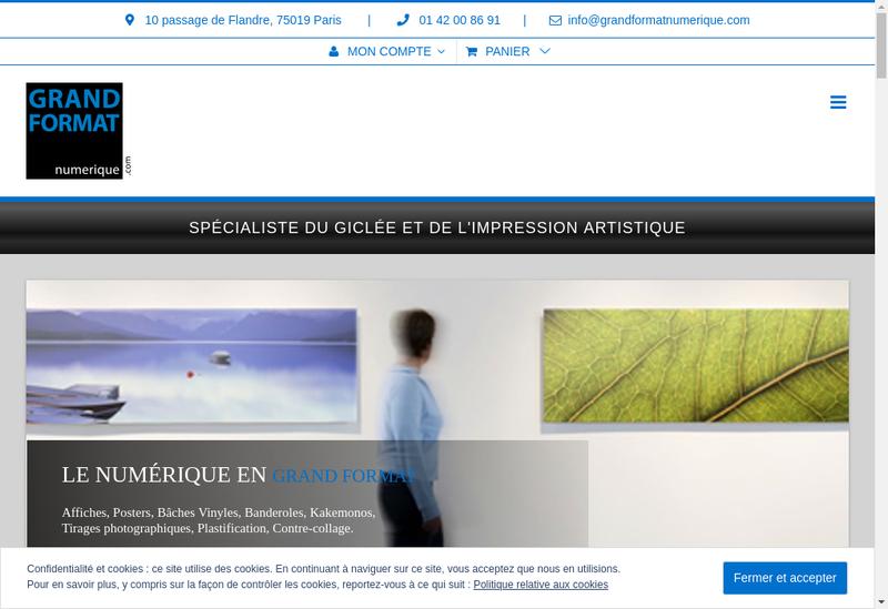Capture d'écran du site de Grand Format Numerique