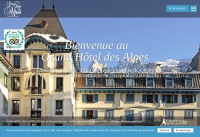 Site internet de Grand Hotel des Alpes