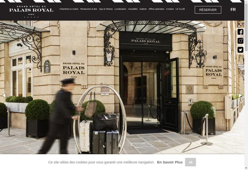 Capture d'écran du site de Cafe Palais Royal