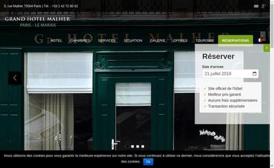Site internet de Grand Hotel Malher