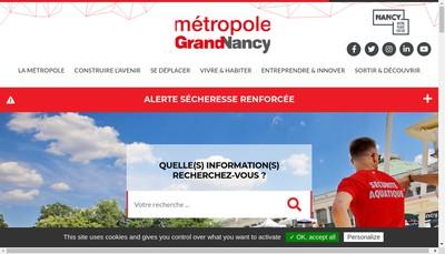 Site internet de Societe Publique Locale Grand Nancy Habitat