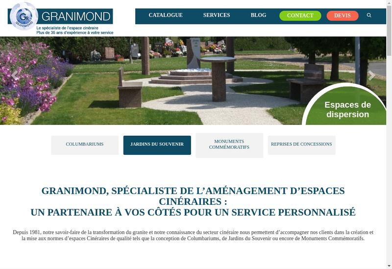 Capture d'écran du site de Societe Granimond