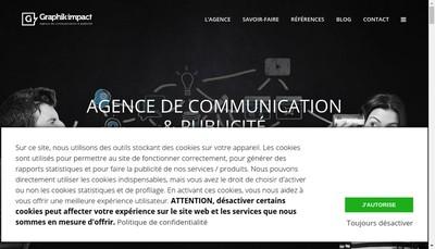 Site internet de SARL Graphik Impact