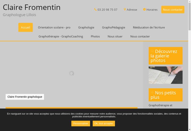 Capture d'écran du site de Claire Fromentin