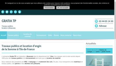 Capture d'écran du site de Gratia Tp