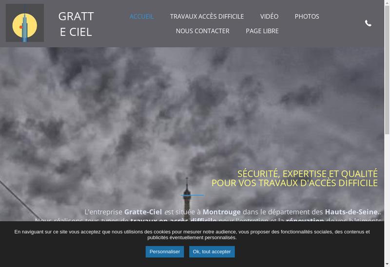 Capture d'écran du site de Gratte Ciel