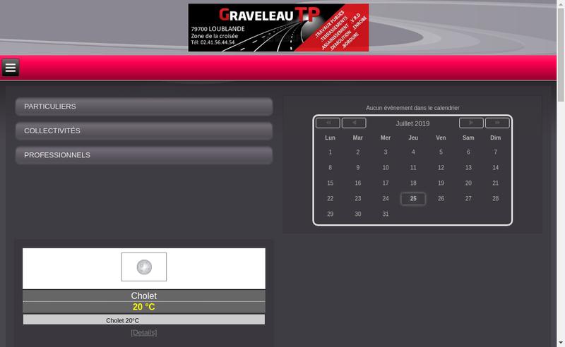 Capture d'écran du site de Graveleau Tp