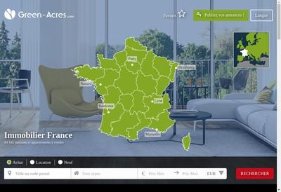 Site internet de Green Acres