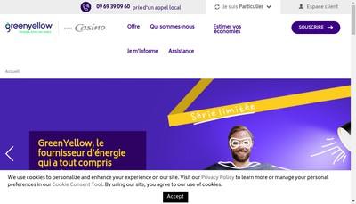 Site internet de Greenyellow Energie