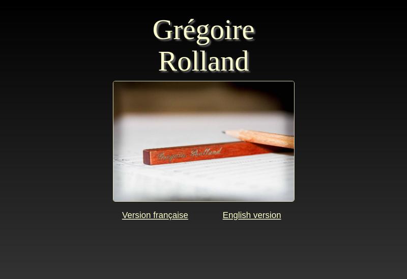 Capture d'écran du site de Gregoire Rolland