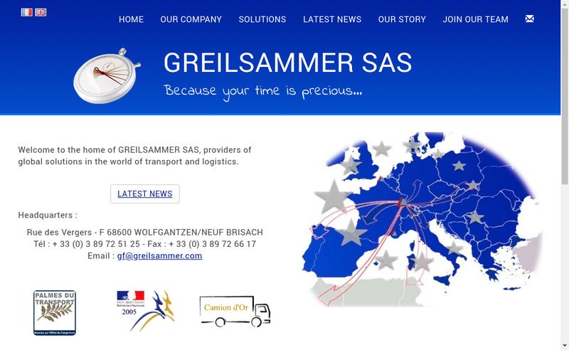Capture d'écran du site de Transports Greilsammer