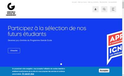 Site internet de Eesc Grenoble Ecole de Management - Gem