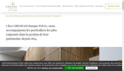 Site internet de Gresham Banque
