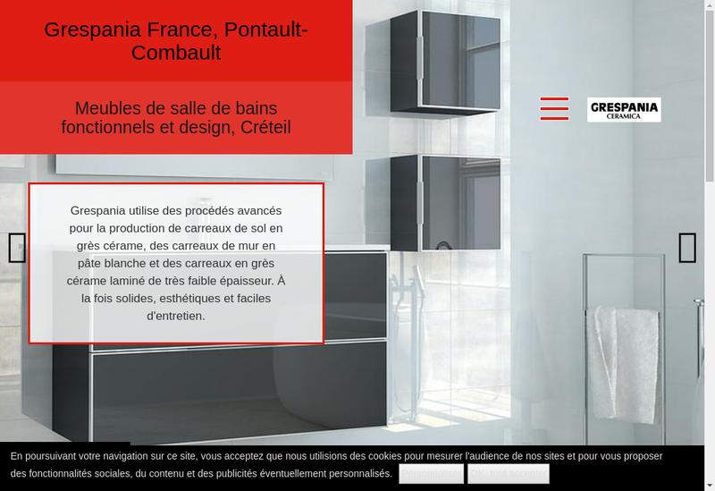 Capture d'écran du site de Grespania France